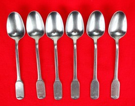 6X Dinner Place Table Spoons FB Rogers Stainless Flat Squre End Flatware... - $47.52