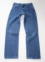 Vintage Blue Denim LEE Relaxed Straight Leg Faded Zip Fly Jeans Size W30... - $16.24