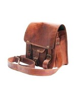 11''Leather Brown Shoulder Laptop Bag New Genuine Rustic Messenger Offic... - $50.92