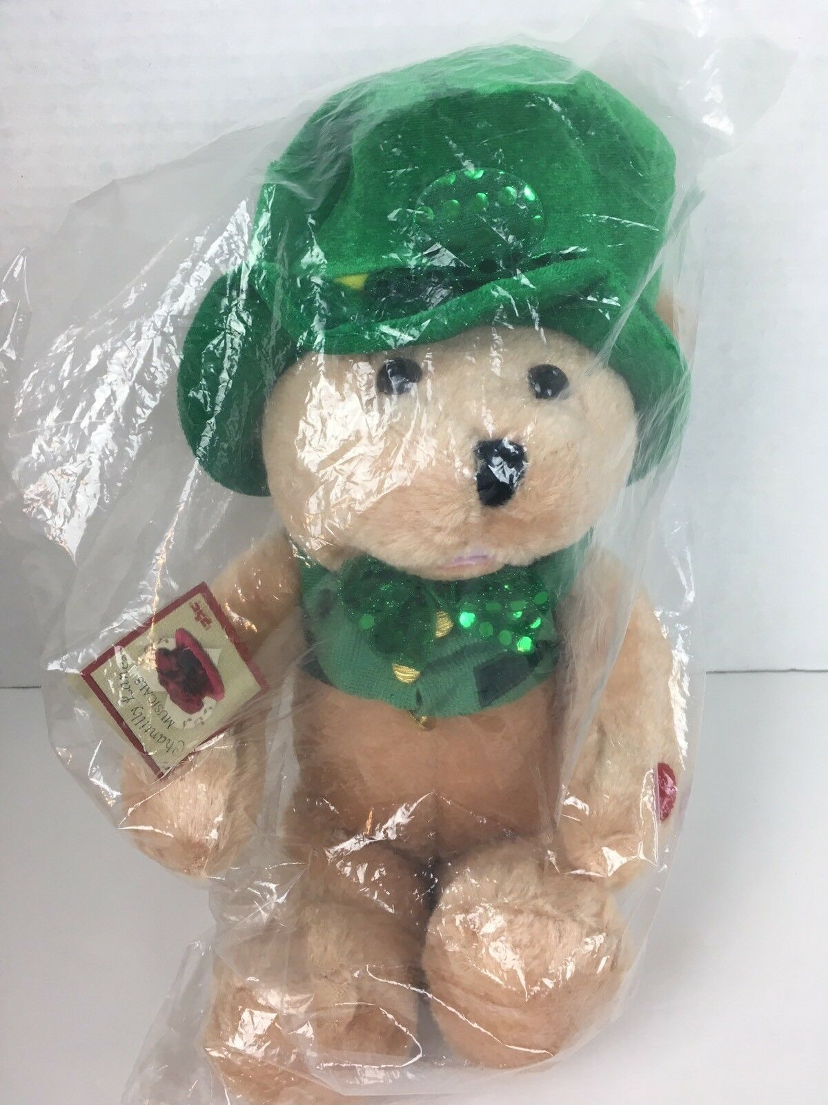 Chantilly Lane Musical Bears Shamrock Dancing When Irish Eyes Are Smiling New