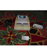 Nintendo SNES White Console (NTSC) SUPER MARIO WORLD - $89.09