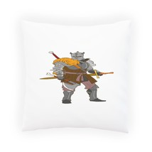 Knight Armor With Tiger Pillow Cushion Cover r885p - $225,29 MXN+