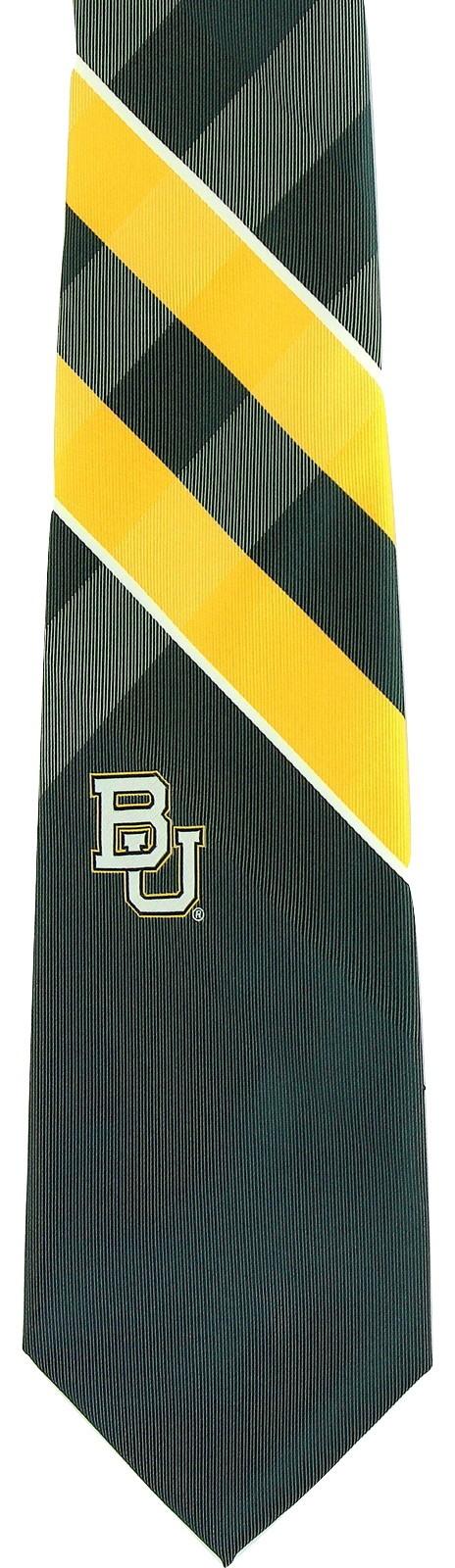 Baylor Bears Mens Necktie College University Logo E. Wings Grid Green Neck Tie