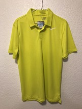NWT Nike Ultra 2 Slim Fit Golf Polo Blade Size Medium Color Yellow 850698-358 - $21.44