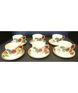 Six Vintage Franciscan Cups & Saucers - Apple Pattern - $28.49