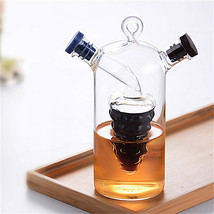 double layered decanter for wine and kitchen spice galss storage bottle ... - $25.35