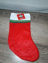"NWT DECEMBER HOME RED FELT STOCKING 13"" - $7.87"