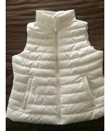 GAP Upcycled Puffer Vest White Women's Ladies Size Large NEW w/ Tags - $24.49