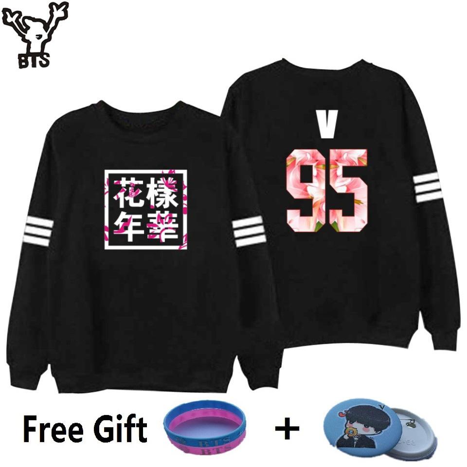 BTS Sweatshirt Women Korean Idol Team Fans Casual Capless Women Hoodies Pullover image 2