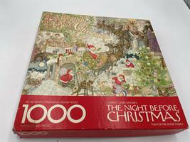 ✅Springbok Twas The Night Before Christmas Puzzle 1000 Pieces vintage 24... - $97.00