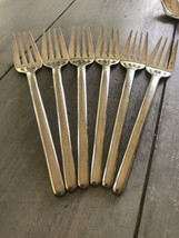 6 Mikasa Zena Salad Forks Glossy 18/8 Stainless Steel!  GUC! - $53.46