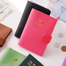 My Journey Ribbon Passport Case Cover Ticket Card Holder Travel Mini Wallet - $12.99