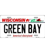 Packers Wisconsin State Background Novelty Metal License Plate Tag (Gree... - $12.30