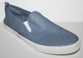 Gap NWT Women's 6 8 Blue Textured Faux Leather Slip On Athletic Tennis Shoes - $41.03