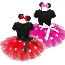 Mädchen Mini Maus Kleid Karneval Party Faschings Kostüm 80 92 98 104 110... - $15.99