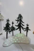 "Dept. 56 Village Access ""Fiber Optic Woods-Green Trees Christmas Decor v... - $54.95"