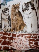 "Vintage BIEDERLACK USA Blanket Throw Cats Kittens Feline Reversible 78""x... - $99.95"
