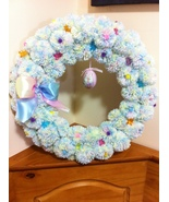 Happy Easter Wreath/Front Door Wreath/Easter Spring Wreath Front Door/  - $68.00