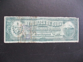 VINTAGE AUTHENTIC CUBAN GOVERNMENT'S WARRANTY FOR EXPORTED CIGARS FROM H... - $49.95