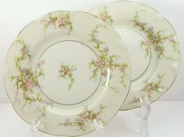"Theo Haviland NY Rosalinde Bread Plates 6-3/8"" Set of 2 Ivory Porcelain ... - $15.84"