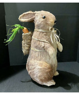 "Sisal Grass Straw Brown Easter Bunny Rabbit 17"" Tall Home Decor Tabletop - $51.43"