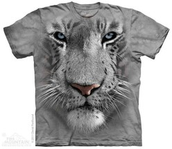 New BIG WHITE TIGER FACE T SHIRT - ₹1,362.61 INR+