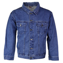 Star Jean Men's Classic Premium Button Up Cotton Denim Jean Jacket Blue