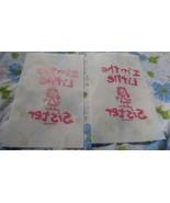 VTG LOT 2 I'm The Little Sister Pink Stick Figure Heat Iron On T-shirt T... - $25.60