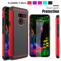 For LG G8/G8 ThinQ Hybrid Armor Phone Case Cover+Tempered Glass Screen P... - $18.00