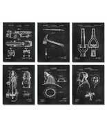 "6 Firefighter Patent Wall Art Prints 8""x10"" Gift Ideas Fire Chief Depart... - $17.77"