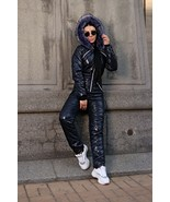 Glossy Black Customized Winter Ski Suit Overall Jumpsuit Outwear Outfit ... - $249.00
