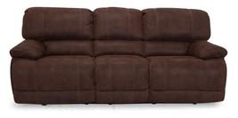 MYCO Furniture Concord Driftwood Brown Microfiber Power Reclining Sofa Set 3Pcs