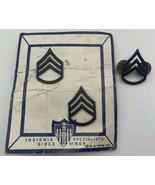 US ARMY Vintage Vietnam Era Sargent Lot Of 3 Collar Lapel Pins 20-2862 - $8.50