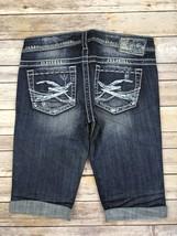 Silver J EAN S Shorts Buckle Low Rise Distressed Dark Denim Jean Shorts 28 New - $19.97