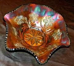 Hexagon shaped Carnival Glass bowl AA20-CD0087 Vintage