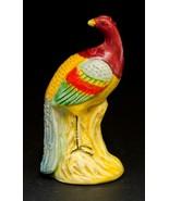Vintage Peacock Bird Ceramic Porcelain Miniature Figurine Japan - $11.87