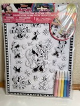 Disney Junior Minnie Mouse Color Your Own 3D Sticker Poster - $7.83