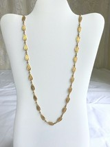 Vintage Gold Tone Trifari Filigree Tear Drop Chain Necklace, Super Classy! - $29.70