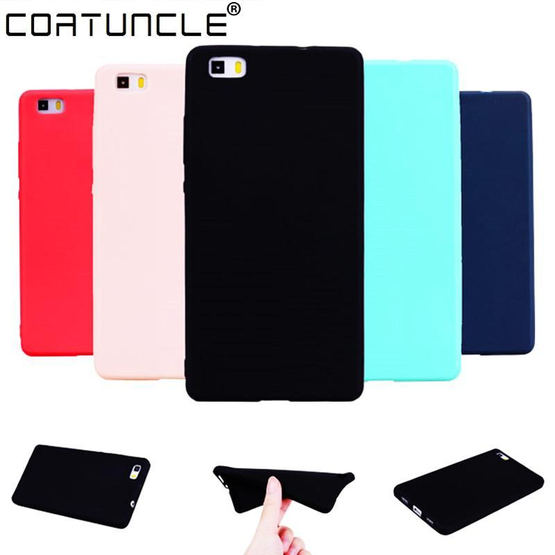 COATUNCLE TPU Soft Cases Huawei P8 lite Case Slim 360 Protect Candy Color Silico