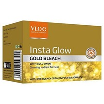 VLCC INSTA GLOW FAIRNESS GOLD BLEACH CREAM  30GM - $6.44