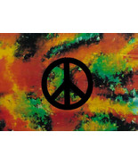 Peace Sign Poster Flag Psychedelic - $14.99