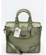 NWT Coach Mini Rhyder 33 Metallic Green Leather Satchel Bag Purse 36105 New - $324.47