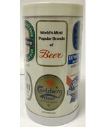 World's Most Popular Brands of Beer Thermal Beer Mug Pabst Blue Ribbon, ... - $9.39