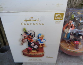 Hallmark: SING-ALONG PALS - Mickey, Donald and Goofy - Dated 2006 - Magic - $44.00