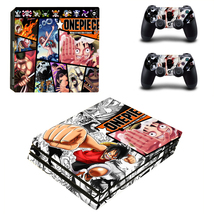 PS4 Pro Console 2 Controllers Anime One Piece Luffy Vinyl Skin Stickers Set Wrap - $14.00