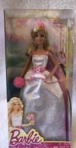 "Barbie Royal Bride Doll White Dress Pink Trim Veil Bouquet 12"" Age 3+ NE... - $25.00"