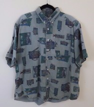 Woolrich Fishing Camping Button Front Shirt Men's Size XL - $24.70