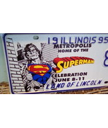 1995 Superman Metropolis Official Illinois State License Plate.   G-008 - $200.00