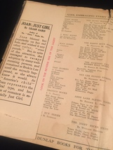"""1924 """"Joan: Just Girl"""" by Lilian Garis frame-ready dust jacket (no book) image 4"""