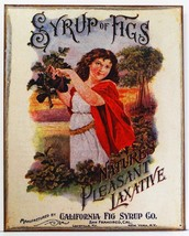 Syrup of Figs Natures Pleasant Laxative Remedy Health Metal Sign - $19.95